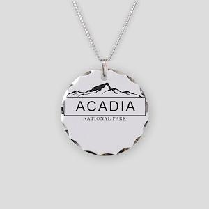 Acadia - Maine Necklace Circle Charm