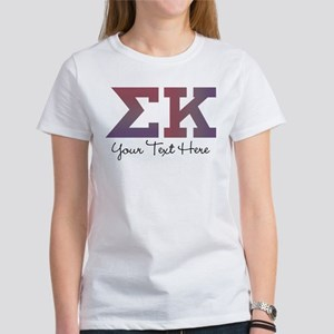 Sigma Kappa Letters Women's Classic White T-Shirt