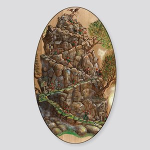 Scout Eagle Mountain 24x36 Sticker (Oval)
