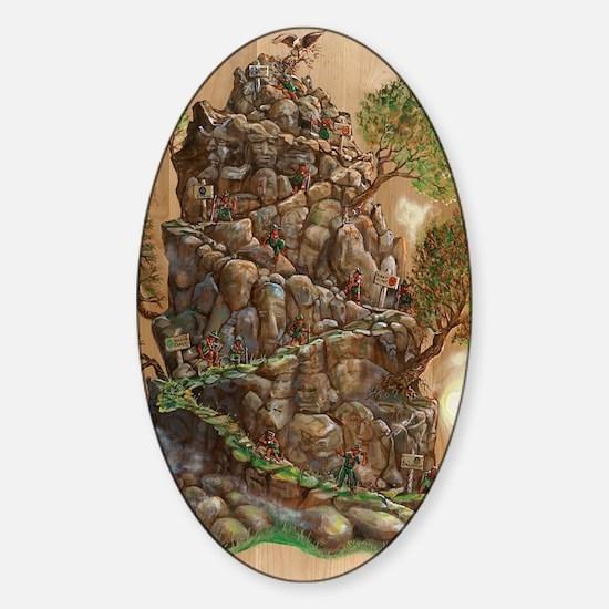 Scout Eagle Mountain 24x36 Sticker (Oval)