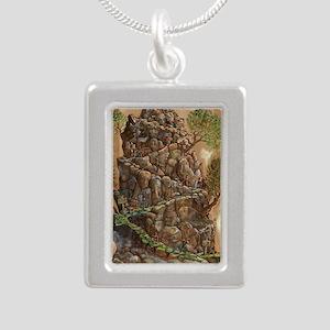 Scout Eagle Mountain 24x Silver Portrait Necklace