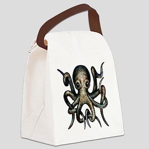 sinister_octopus_black_eyes Canvas Lunch Bag