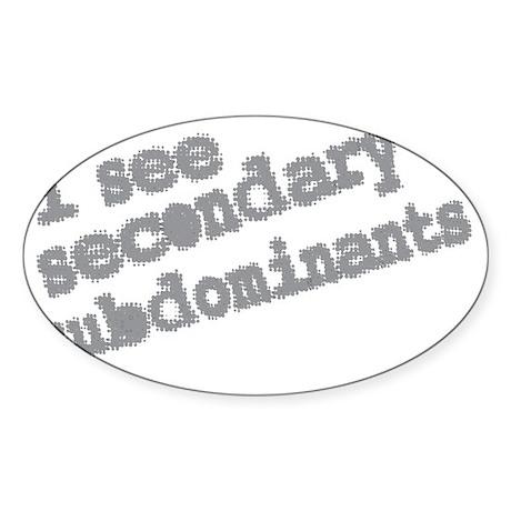 secondary subdominants Sticker (Oval)