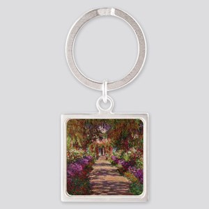 A Pathway in Monets Garden, Givern Square Keychain