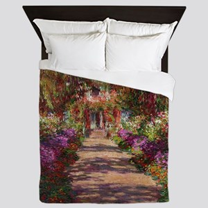 A Pathway in Monets Garden, Giverny, 1 Queen Duvet