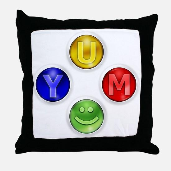 Yum Xbox Controller buttons Throw Pillow