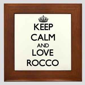 Keep Calm and Love Rocco Framed Tile