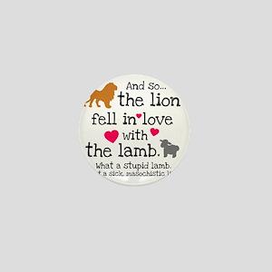Lion  Lamb Mini Button