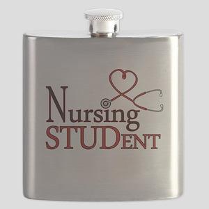 Nursing Student Cute Heart Stethoscope Flask
