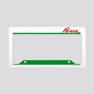 Peace Misssle License Plate Holder