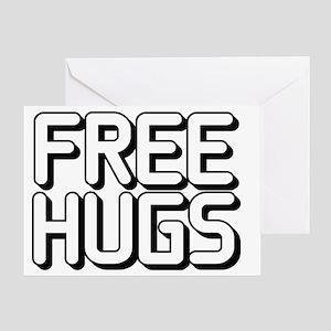 Free-Hugs5Bl Greeting Card