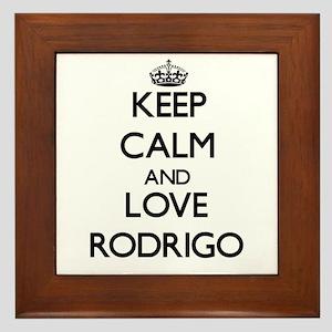 Keep Calm and Love Rodrigo Framed Tile