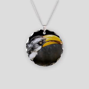(15) Hornbill  Tidbit Necklace Circle Charm