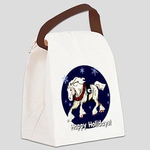 happyholidaysdrafttd Canvas Lunch Bag