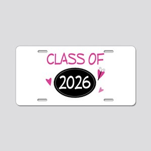 Class of 2026 (butterfly) Aluminum License Plate
