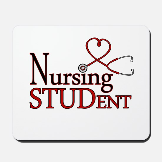 Nursing Student Cute Heart Stethoscope Mousepad