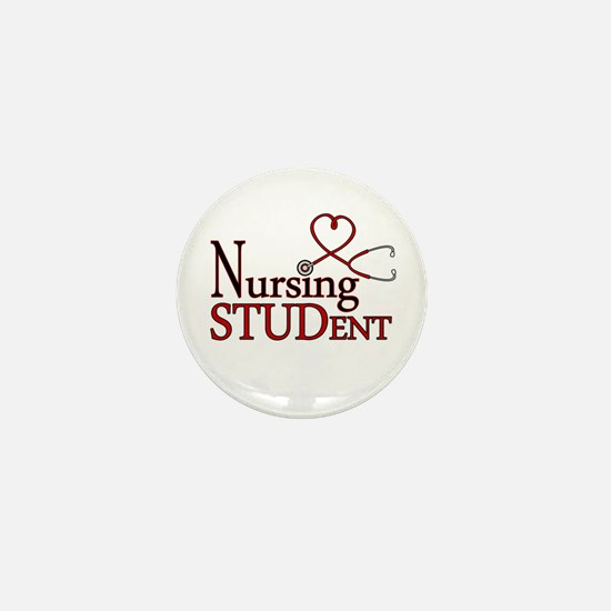 Nursing Student Cute Heart Stethoscope Mini Button