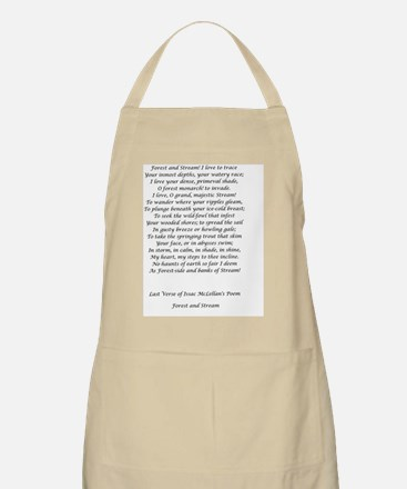 Forest and Stream Poetry Card Verse Apron