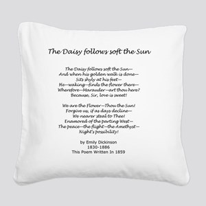 The Daisy Follows Soft The Su Square Canvas Pillow