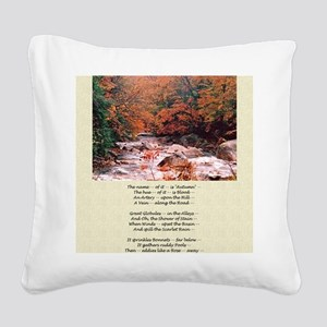 Emily Dickinson Autumn Poetry Square Canvas Pillow
