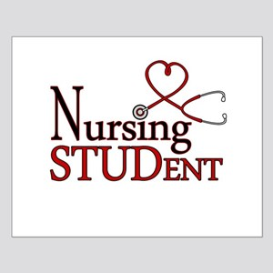 Nursing Student Cute Heart Stethoscope Posters
