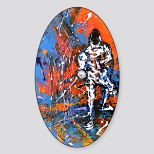 Abstract Epee2 Sticker (Oval)