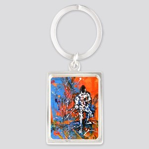 Abstract Epee2 Portrait Keychain