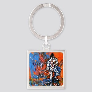 Abstract Epee2 Square Keychain