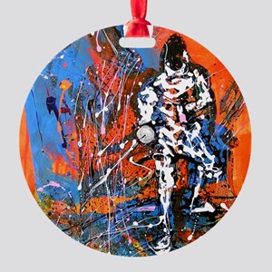 Abstract Epee2 Round Ornament