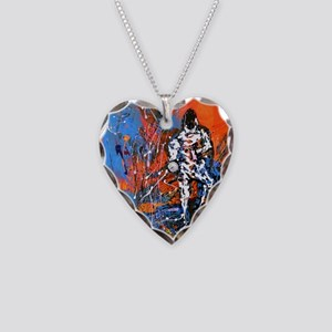 Abstract Epee2 Necklace Heart Charm