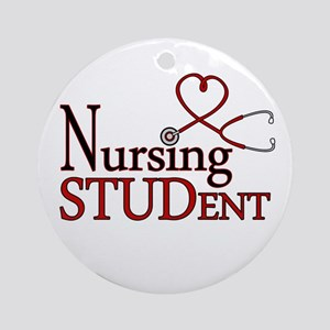 Nursing Student Cute Heart Stethoscope Ornament (R