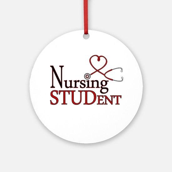 Nursing Student Cute Heart Stethoscope Ornament (R