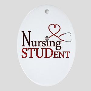 Nursing Student Cute Heart Stethoscope Ornament (O