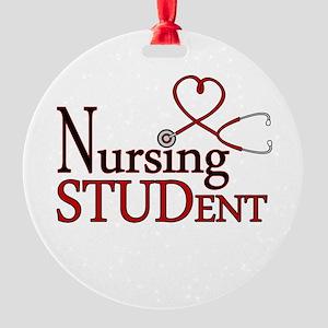 Nursing Student Cute Heart Stethoscope Ornament