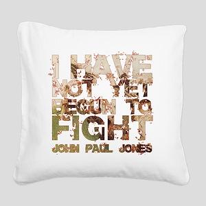 John Paul Jones 2 Square Canvas Pillow
