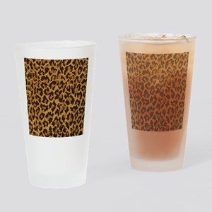 RAB Rockabilly Gold brown Leopard P Drinking Glass
