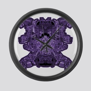 Purple Skull Large Wall Clock