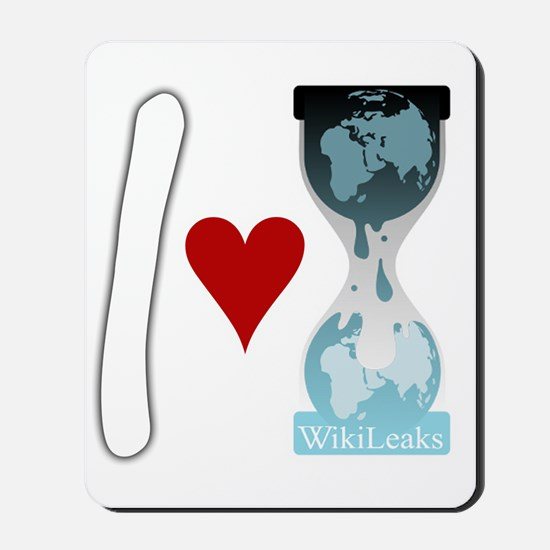 i heart wikileaks2white Mousepad