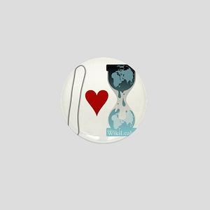 i heart wikileaks2white Mini Button