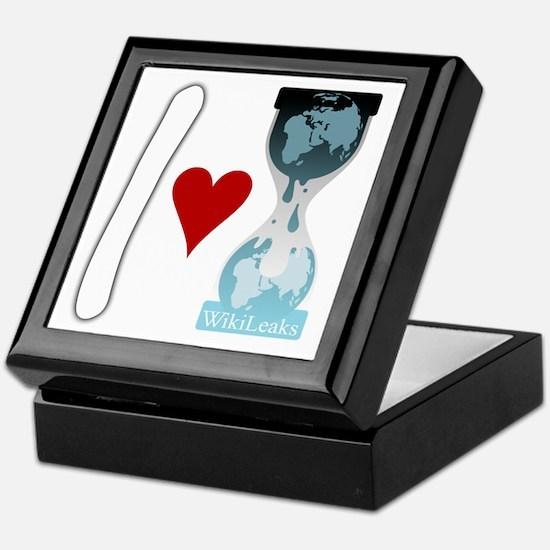 i heart wikileaks2white Keepsake Box