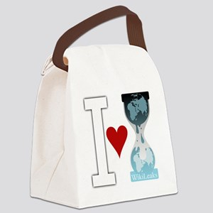 i heart wikileakswhite Canvas Lunch Bag