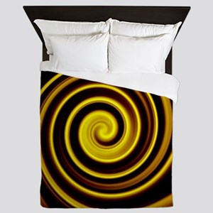 cool black gold water ripple effect ab Queen Duvet
