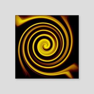 "cool black gold water rippl Square Sticker 3"" x 3"""