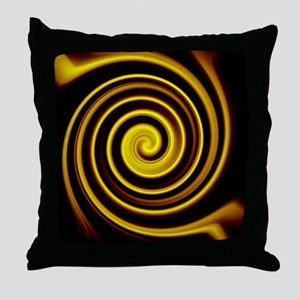 cool black gold water ripple effect a Throw Pillow