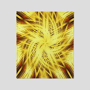 gold flower abstract art Throw Blanket