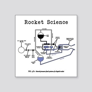 "Rocket science Square Sticker 3"" x 3"""