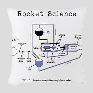 Rocket science Woven Throw Pillow
