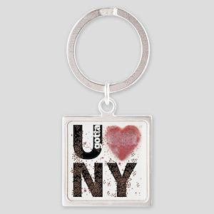 U gotta Love NY Bedbugs Square Keychain