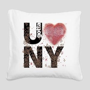 U gotta Love NY Bedbugs Square Canvas Pillow