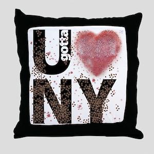 U gotta Love NY Bedbugs Throw Pillow